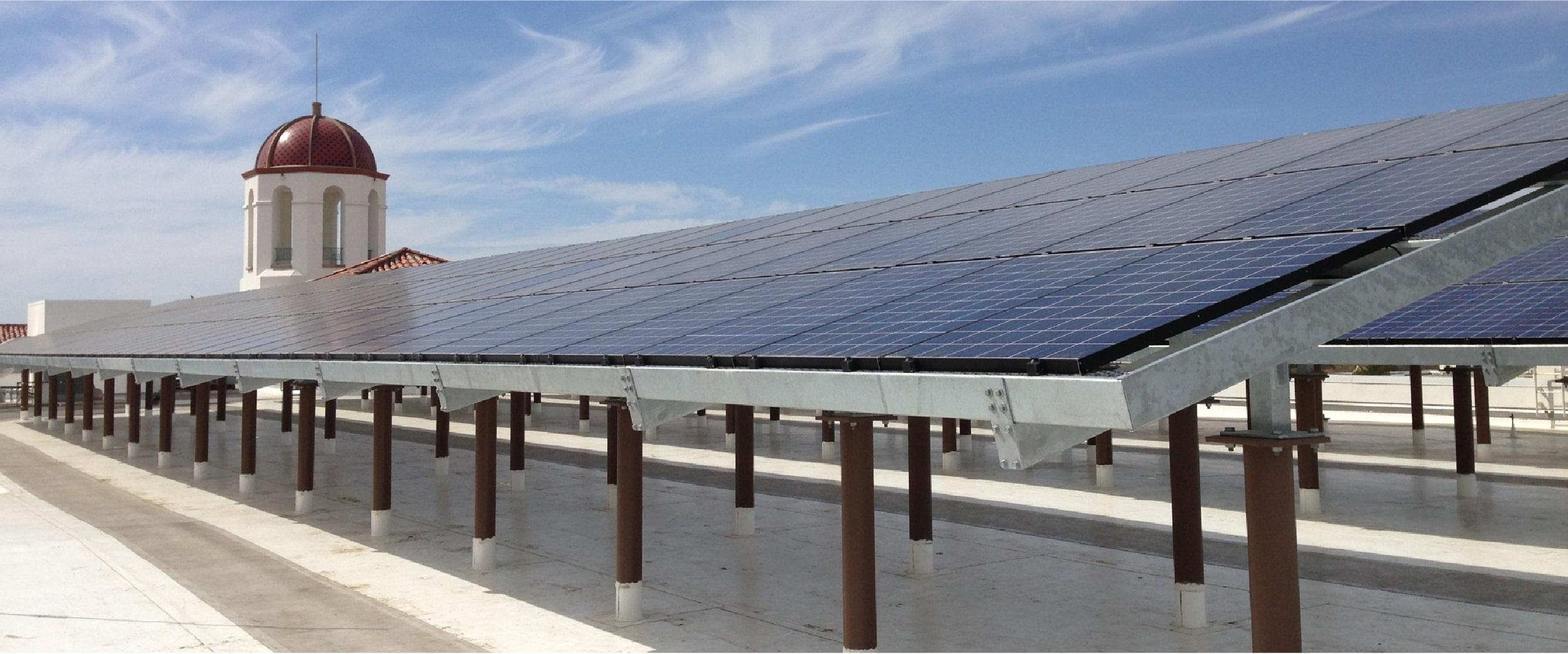 Aztec Student Union rooftop and solar