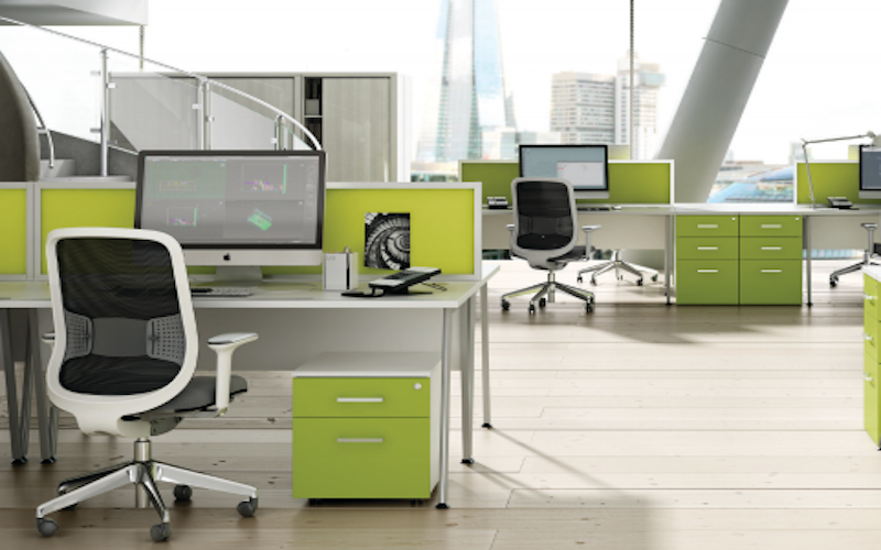 green office desks